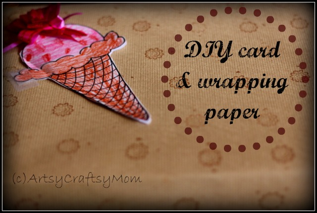 DIY card Wrapping paper