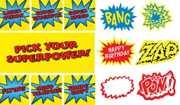 Kids Party Hub FREE Superhero Printables