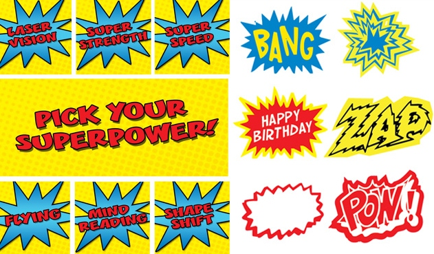 FREE Superhero Party Printables title=