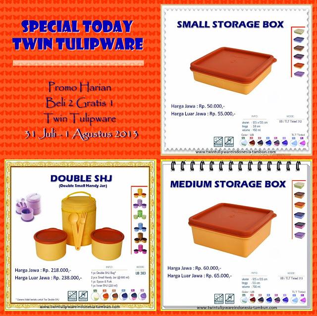 promo harian 2 free 1 tulipware agustus 2013