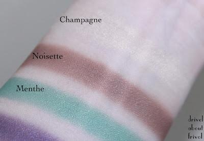 Shiseido Eye Color Bar Swatches