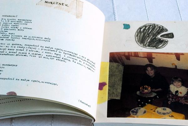 Wnętrze książki, przepis na murzynka