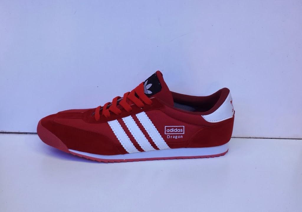 sepatu Adidas Dragon putih merah