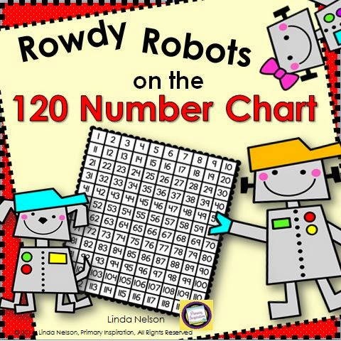 http://www.teacherspayteachers.com/Product/myfavoritethings2014-120-Chart-Rowdy-Robots-on-the-120-Number-Chart-1530540