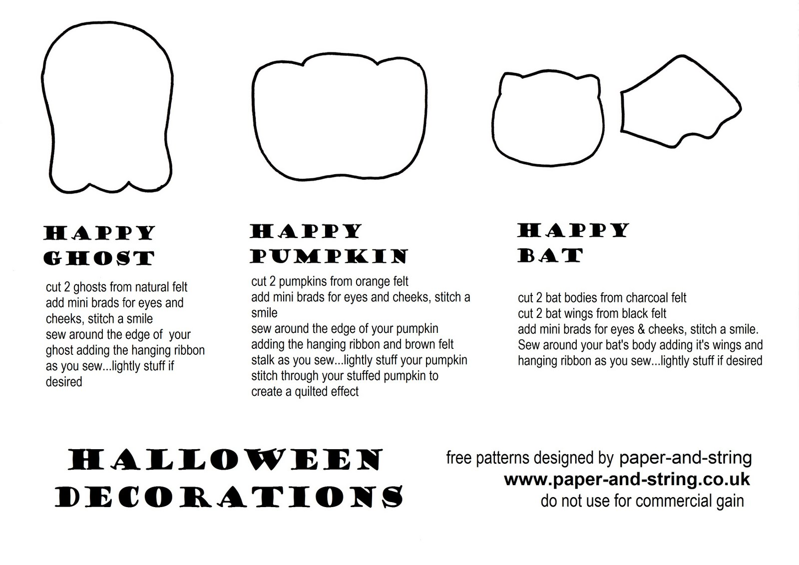paper and string trick or treat
