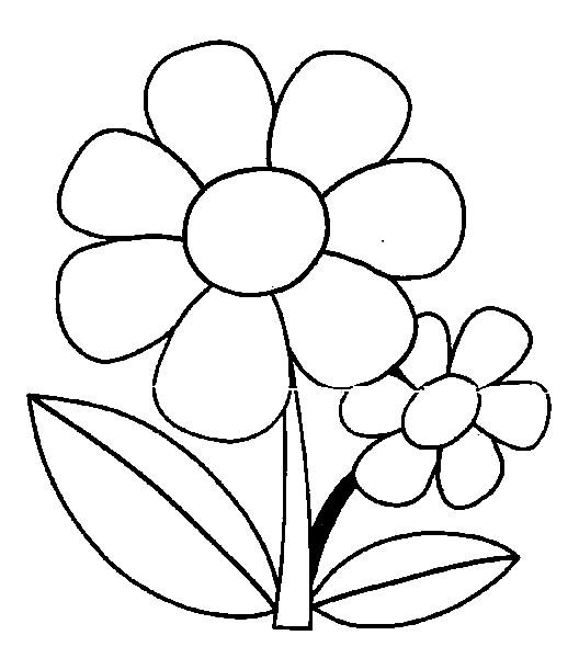 baú da web desenho de flor infantil para crianças colorir