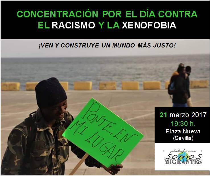 Martes 21 de Marzo: CONCENTRACIÓN en Sevilla, convocada por la plataforma SOMOS MIGRANTES