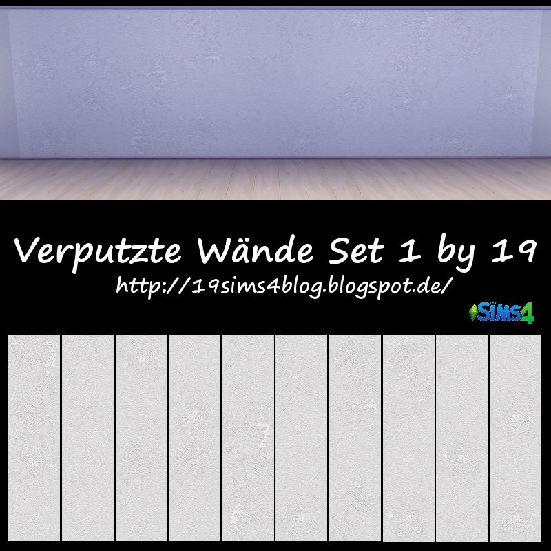 19 sims 4 blog verputzte w nde set 1. Black Bedroom Furniture Sets. Home Design Ideas