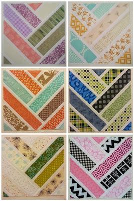 Herringbone Quilt Block Mosaic