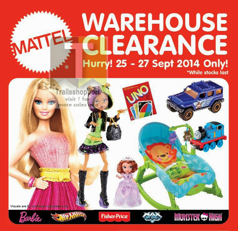 Mattel Toys warehouse clearance sale petaling jaya