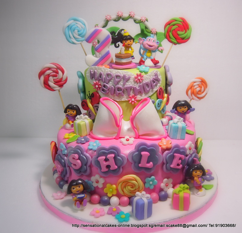 The Sensational Cakes Dora 2 Tier Cake Singapore Princess Cake