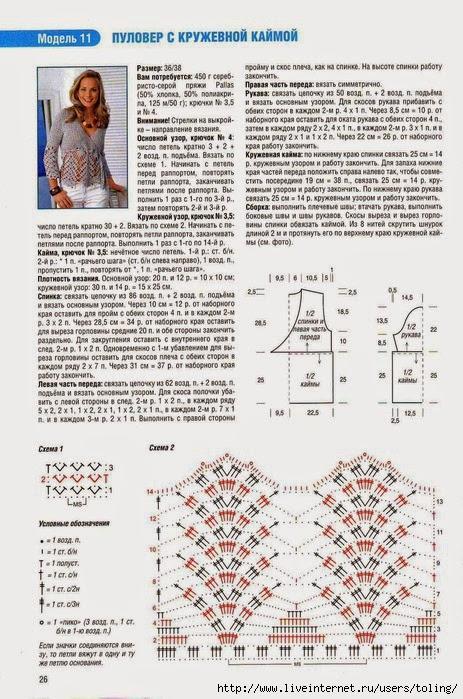 Вязание спицами схемы и модели вязания спицами