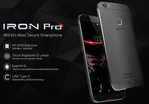 UMI Iron Pro Smartphone Launched with Eye Security