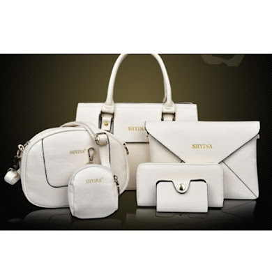 AA FASHION BAG ( 6 IN 1 SET) (WHITE)