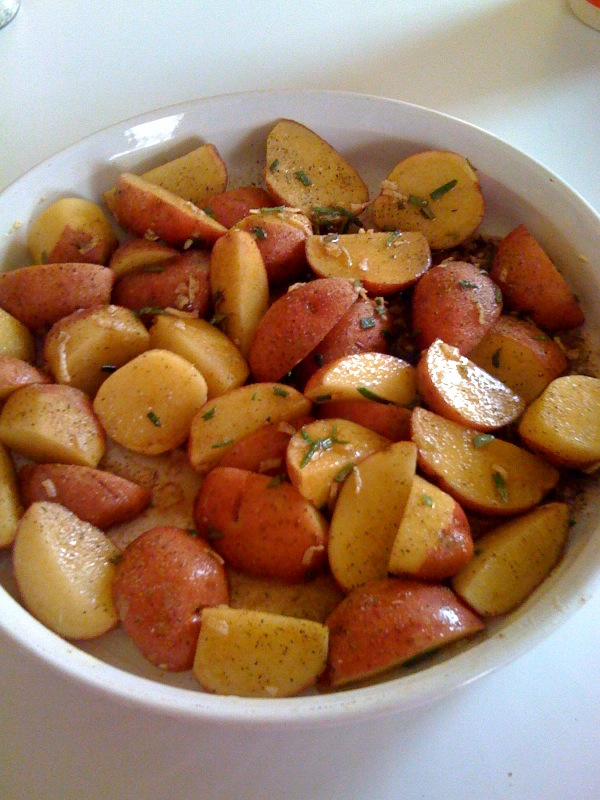 Oven Roasted New Potatoes with Rosemary!