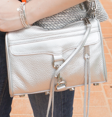 rebecca minkoff silver mini MAC bag
