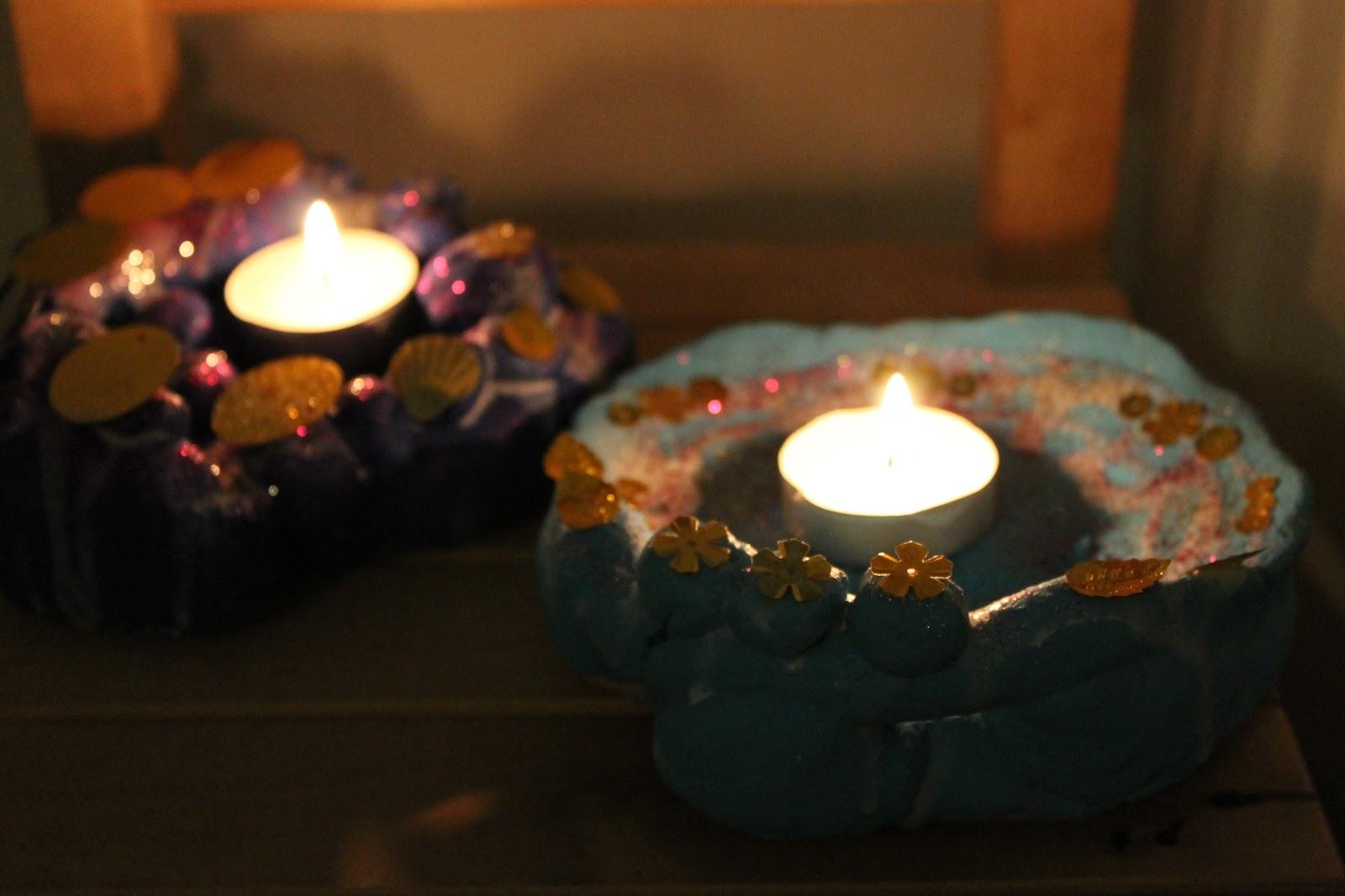 Salt Dough Lamps : Crafty by Nurture: Crafty Tutorial - Salt Dough Decorations and Diwali Lamps