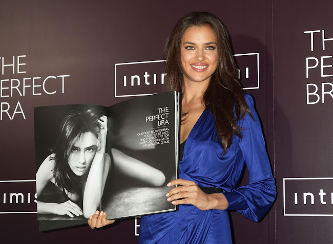 IRINA SHAYK promotes the The Perfect Bra  book in London