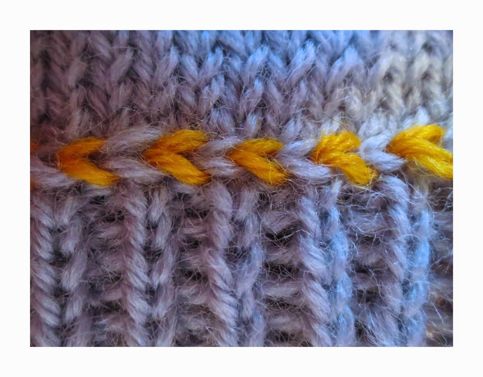 TECHknitting: Slip stitch surface decoration: Fake Latvian Braid