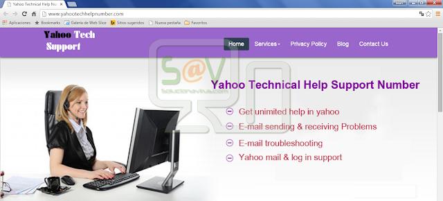 Yahootechhelpnumber.com pop-ups (Falso soporte)