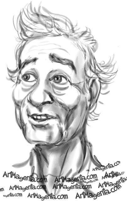 Bill Murray is a caricature by caricaturist Artmagenta