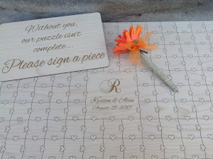 Custom Wedding Guest Book Puzzles