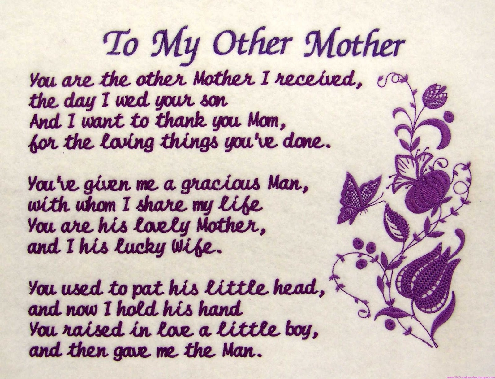 Mothers Day 2013 Poems Mother's day poems to mother