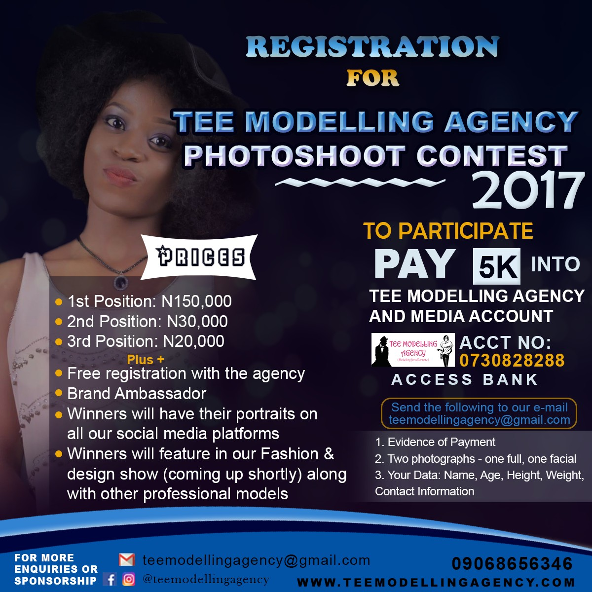 TEE MODELLING AGENCY CONTEST