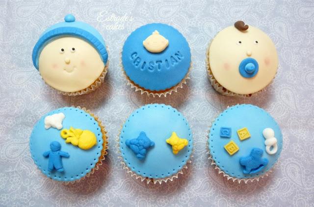 cupcakes para bebe con fondant - 1