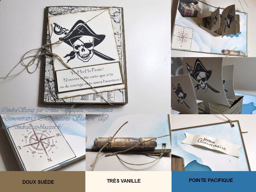 Cindrascrap Carte D Anniversaire Enfant Bateau Pirate En Origami