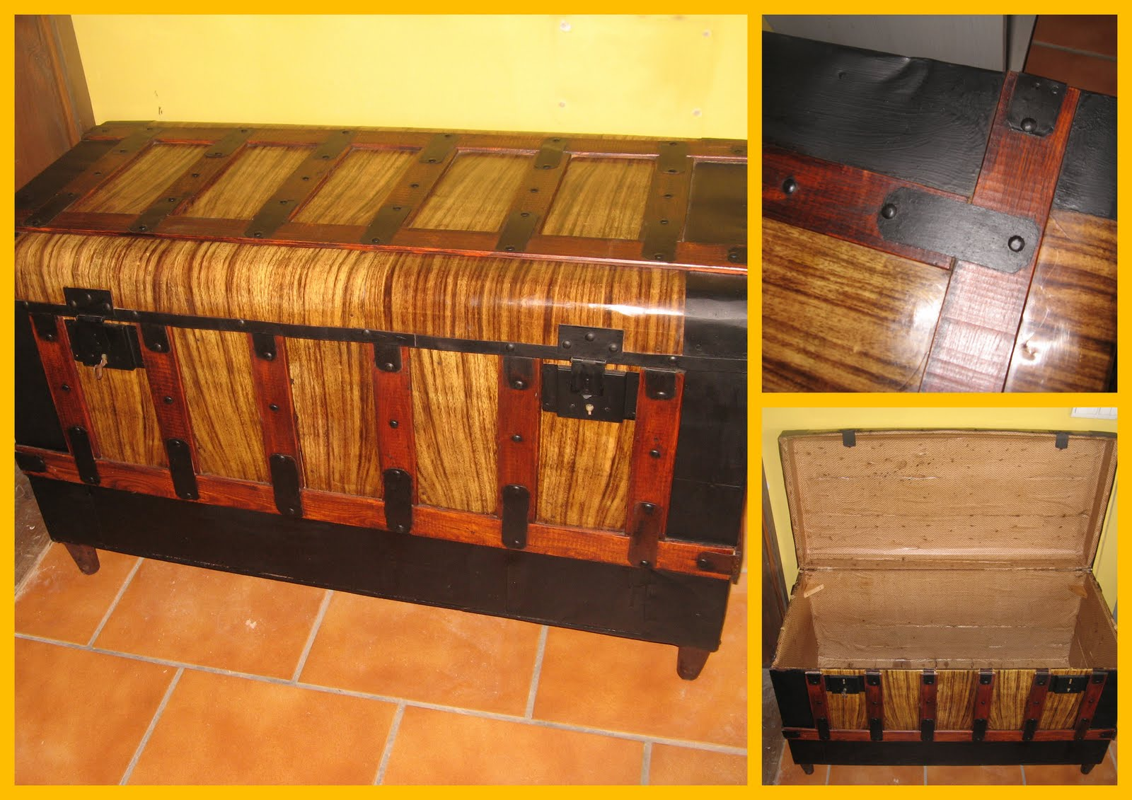 Artesanos carpinteros mayo 2011 - Restaurar un baul ...