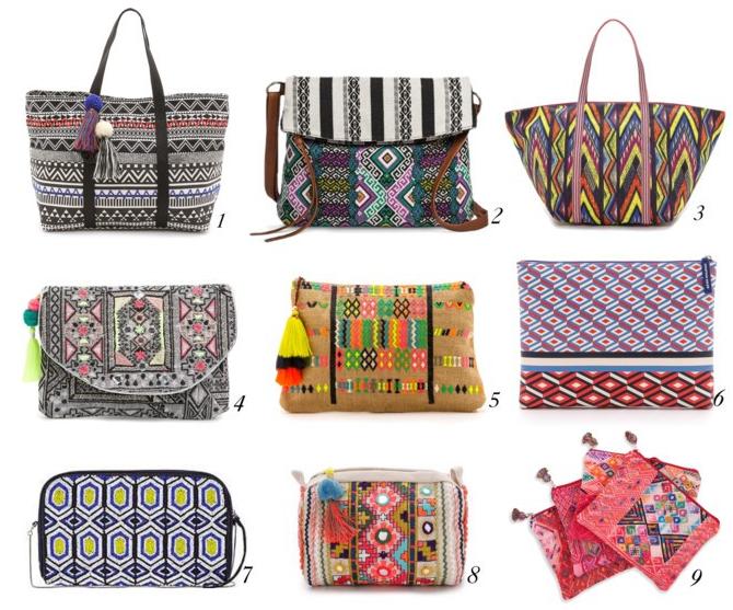 Tribal Print Bags