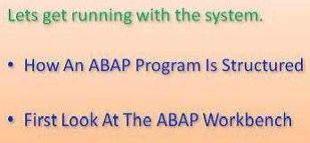 SAP ABAP Workbench Introduction
