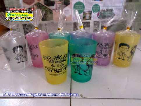 souvenir gelas medium doff warna unik