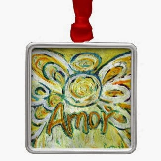 Amor Angel Word Ornament