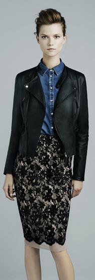 Zara chaqueta cuero mujer