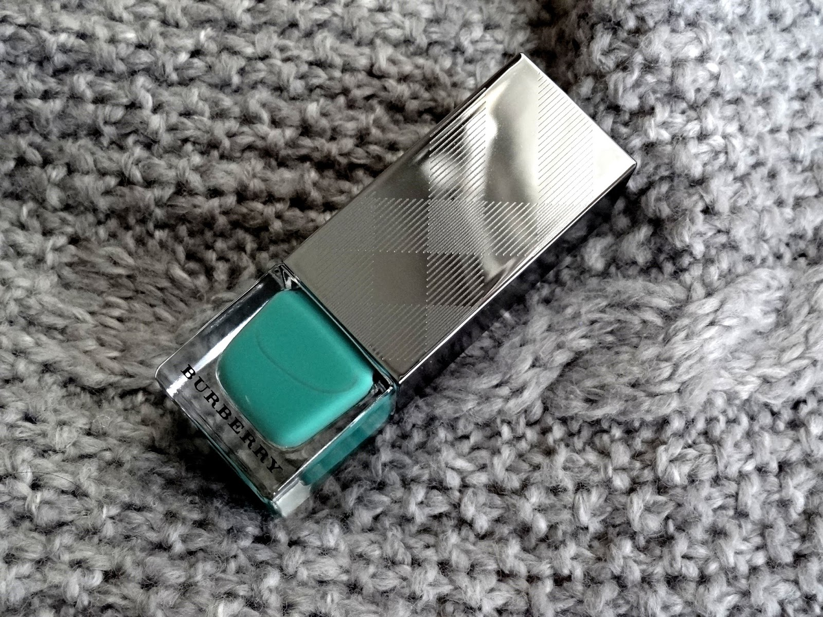 Burberry Beauty Nail Polish in Aqua Green No.418 Review, Photos & Swatches