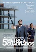 Cartel de la película 5 metros cuadrados, protagonizada por Fernando Tejero y Malena Alterio