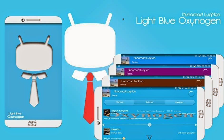 Download BBM Mod Terbaru | BBM Light Blue Oxygen