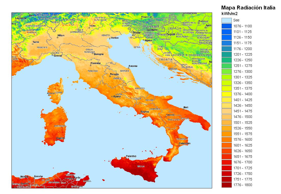Mapa De Italia Por Regiones
