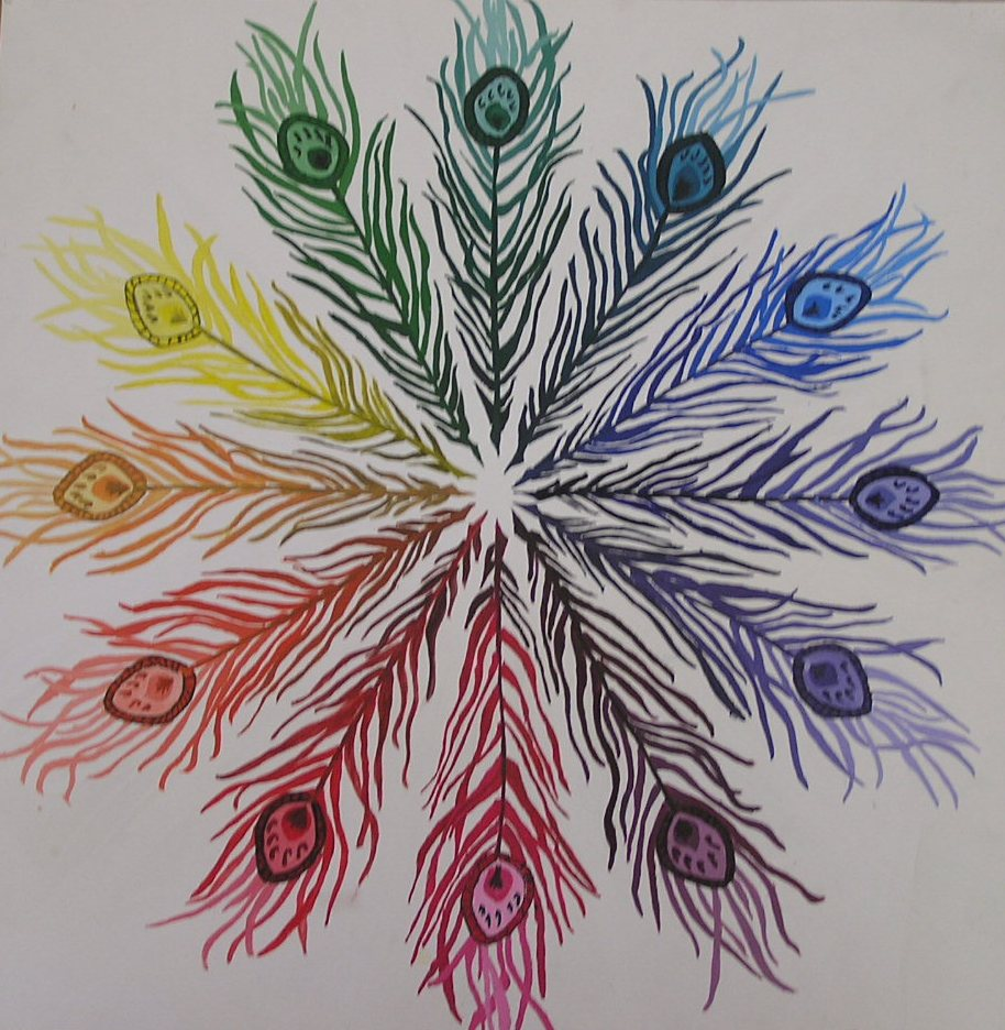 Splatters And Smudges Color Wheel Mandalas 2008