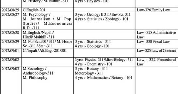 tu exam routine 2071 bbs 1st year download pdf