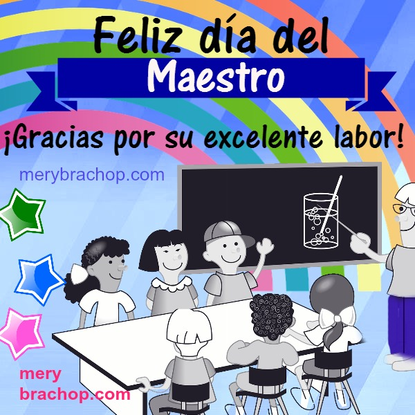 Feliz día del maestro, imagen, mensaje, niños y maestro. Frases para maestros con tarjeta