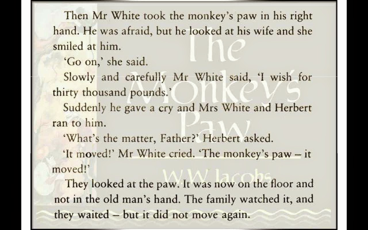 analysis of the monkey s paw