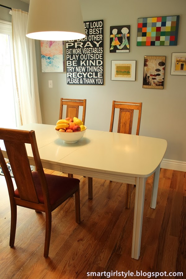 smartgirlstyle how to paint a dining room table