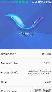 Hisense Pureshot - Vision UI dan info tentang <i>smartphone</i> ini.