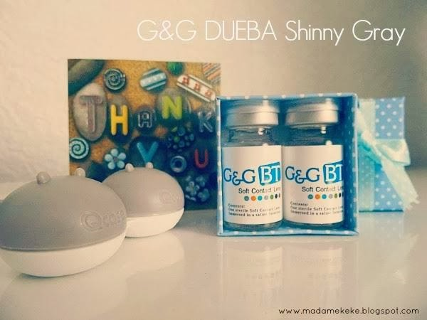 G&G/Dueba Shinny Gray Circle Lenses review 1