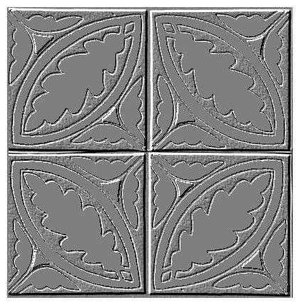 Bodenfliesen mit Eichenlaubmuster