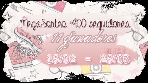 http://yourhappinesslife.blogspot.com.es/2015/02/megasorteo-900-seguidores-11-ganadores.html