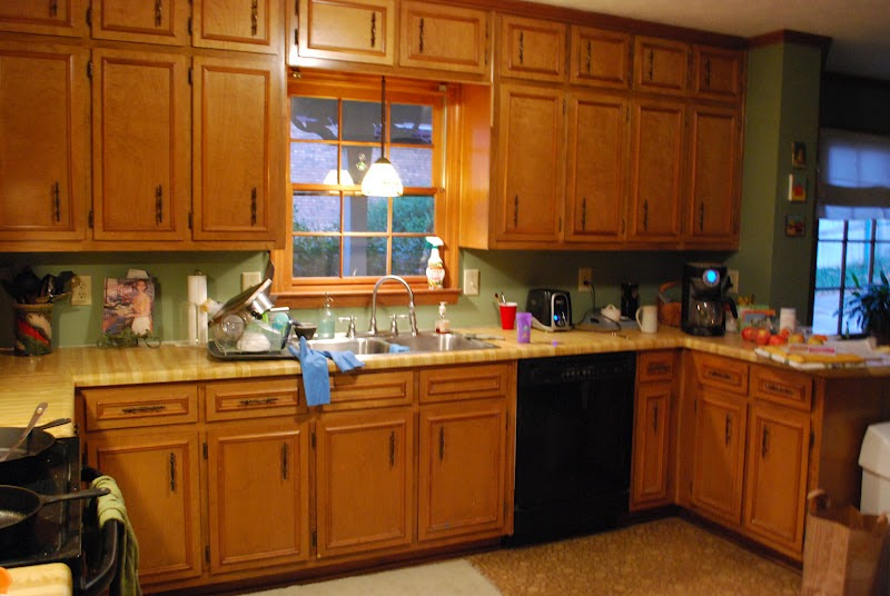 between blue and yellow kitchen update glass cabinets. Black Bedroom Furniture Sets. Home Design Ideas